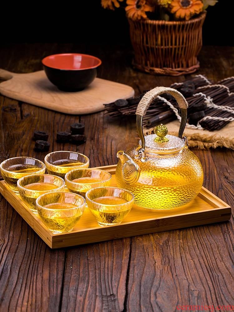 Qiao mu glass teapot high temperature resistant filter teapot hot tea set home burn electric TaoLu boiled tea kettle