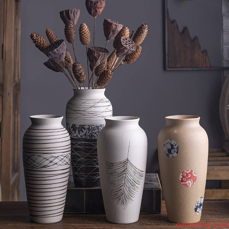 Vase furnishing articles sitting room flower arranging the Nordic ceramic ins mini hydroponic water raise creative I and contracted wind flowers