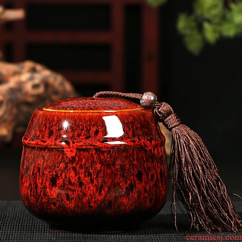 Tea tanks caddy fixings ceramic up small seal pot Tea packaging household utensils