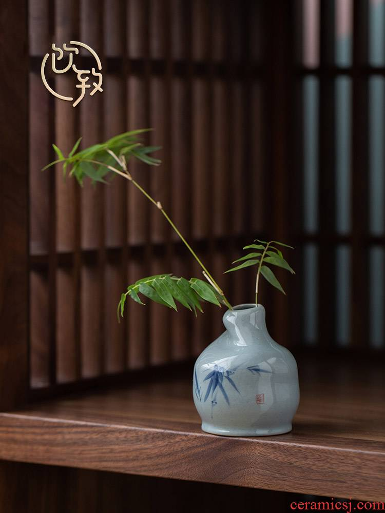 Ultimately responds to Japanese inserted tea machine zen tea taking floret bottle ceramic creative retro flower vases, tea art furnishing articles