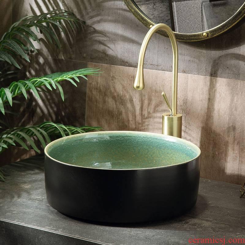 Small family single basin to restore ancient ways on simple toilet lavabo basin ceramic household balcony water basin