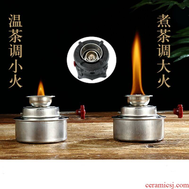 Alcohol lamp boiling tea trumpet Alcohol furnace temperature heating base tea stove stainless steel glass Alcohol lamp cotton wick