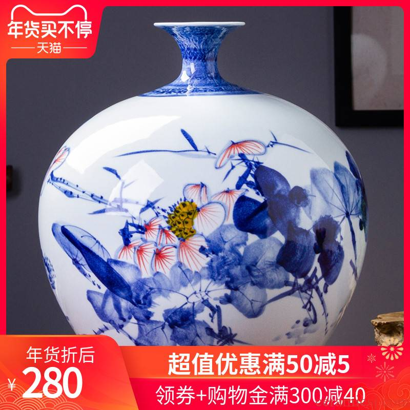 468 jingdezhen ceramic hand - made of blue and white porcelain vase furnishing articles flower arranging new Chinese style porch decoration decoration