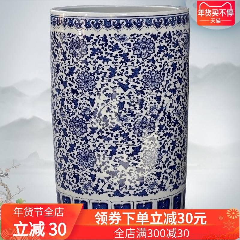 Jingdezhen ceramics bound branch lotus large vases, sitting room of Chinese style household furnishing articles decorations study calligraphy and painting to receive the goods