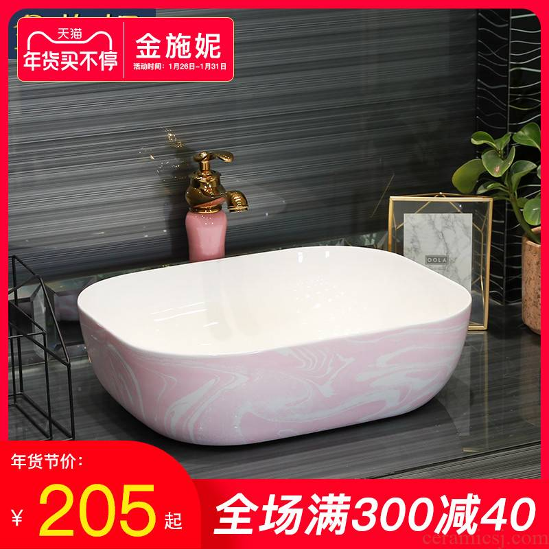 Gold cellnique marble contracted art ceramic stage basin household lavabo legend sink basin