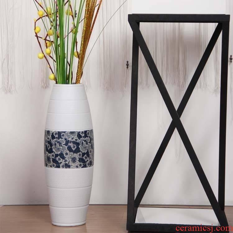 076 I sitting room of large vases, jingdezhen ceramic fashion flower European - style decorative household items furnishing articles