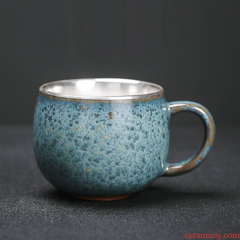 Japanese tea floating cui aquamarine coppering. As silver sample tea cup temmoku up ceramic tea set tea cup home master CPU