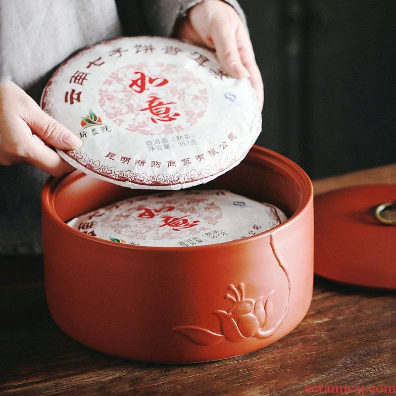 Purple sand tea cake boxes tea cake tin caddy fixings ceramic large white tea tea urn storage detong wake POTS