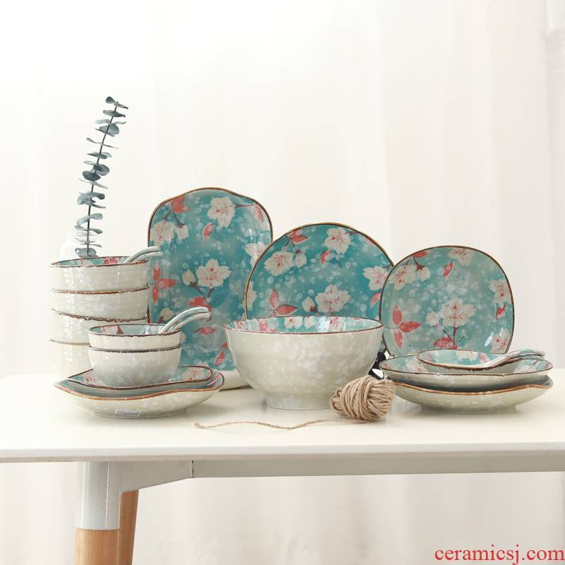 Northern wind Japanese youth hand - made ceramic tableware household dish to eat bowl soup bowl rainbow such as bowl dish dish of fish