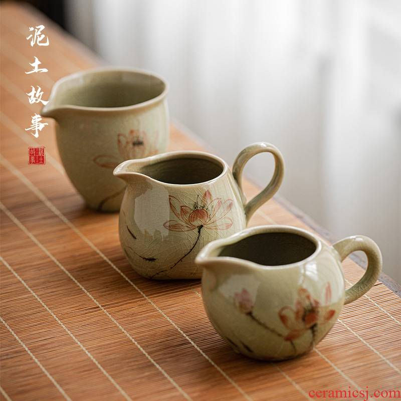 Jingdezhen hand - made lotus of the up fair keller kung fu tea tea tea sea points exchanger with the ceramics filter accessories and a cup of tea