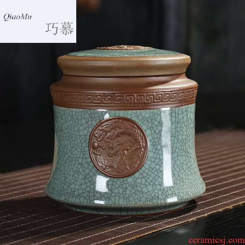 Qiao mu TN elder brother up with ceramic tea pot large red green tea pu - erh tea, white tea sealed as cans of all sorts of dry goods store herbs