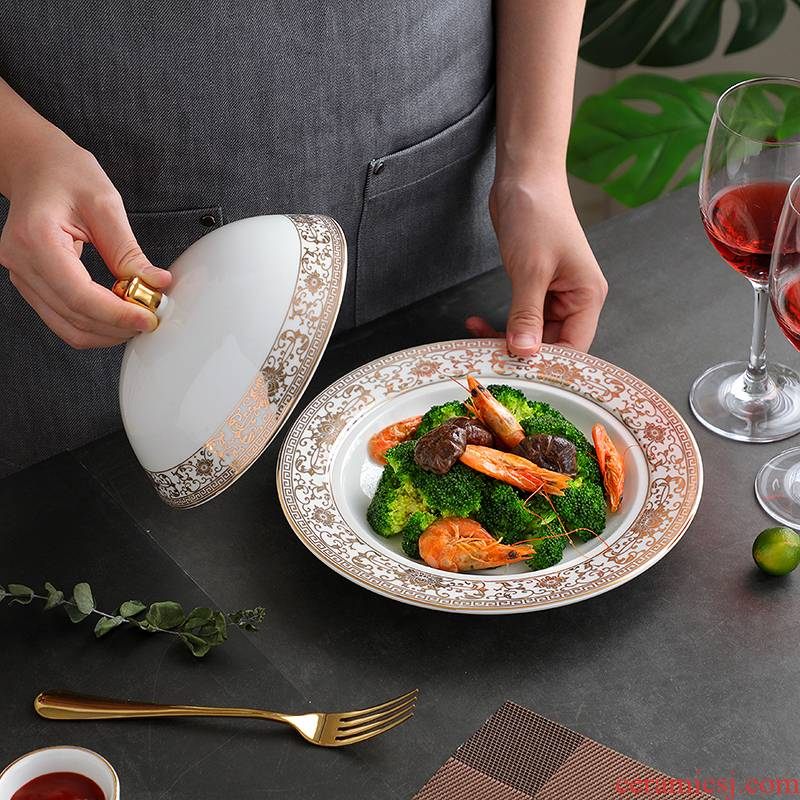 Hotel western - style food tableware of pottery and porcelain bowl with cover plate wing run rice FanPan abalone steak table Japanese yulan to offer them