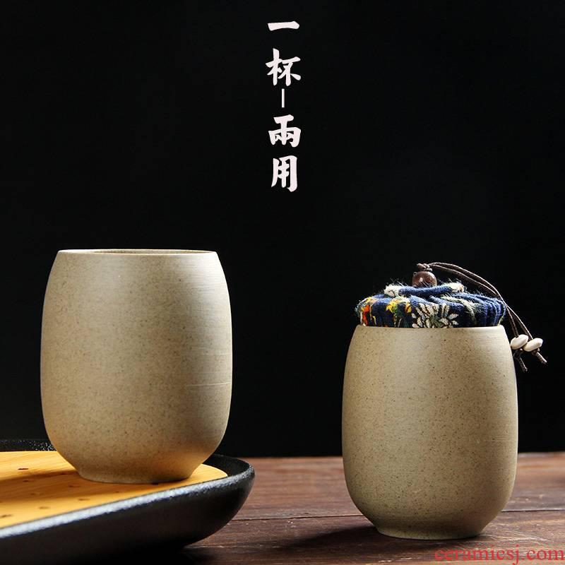 Ceramic cups rock, coarse pottery cup master cup primary coarse pottery large Japanese coarse pottery cups cup cup mini jar
