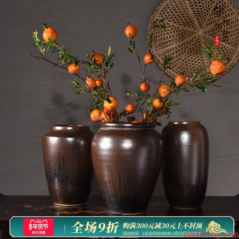 Mesa of jingdezhen ceramic vases, small POTS restoring ancient ways furnishing articles sitting room Chinese hydroponic flower arranging dried flowers, planting flowers