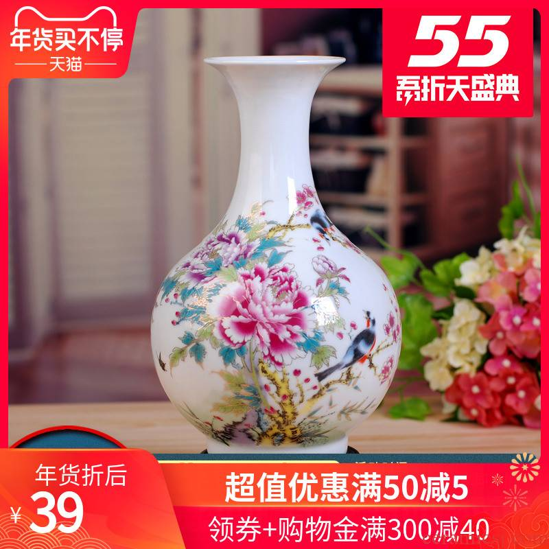 135 jingdezhen ceramic vase household living room decoration home furnishing articles art ceramics handicraft prosperous hoary head