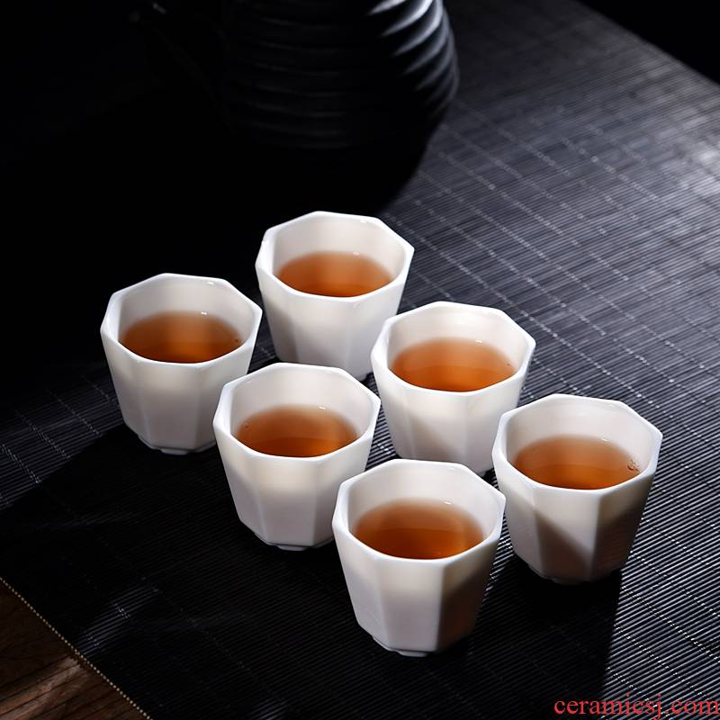 Ancient sheng up new white jade kaolin suet single cup cup more light ceramic cup sample tea cup kung fu master