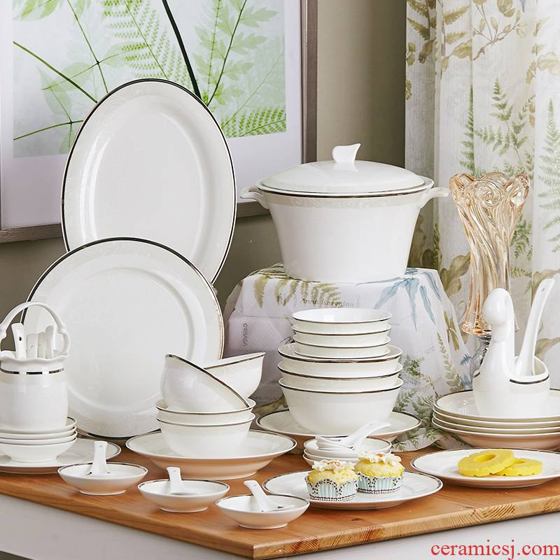 The rule of clearance! The dishes suit European top - grade jingdezhen ceramics tableware suit dishes household ipads plate