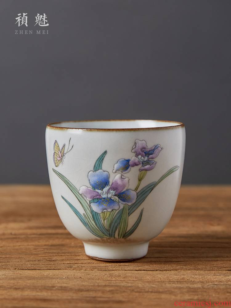 Shot incarnate the jingdezhen ceramic cup your up hand - made orchid kung fu tea set sample tea cup cup single CPU slicing can be a master