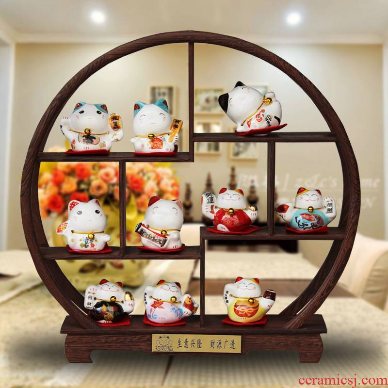 To run ten mascot plutus cat small manual ceramic furnishing articles the opened a housewarming gift birthday home outfit