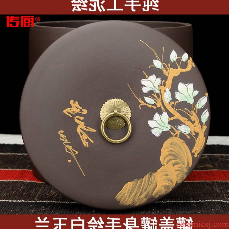 The kitchen hand straight violet arenaceous caddy fixings ceramic seal tank large installed puer tea of bread three nine cakes tea boxes