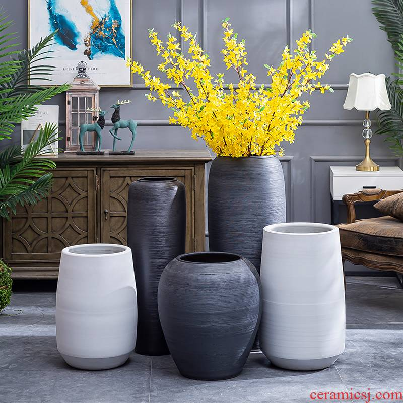 I and contracted sitting room ground ceramic vase to restore ancient ways the small pure and fresh and dried flower flower flower implement coarse pottery furnishing articles