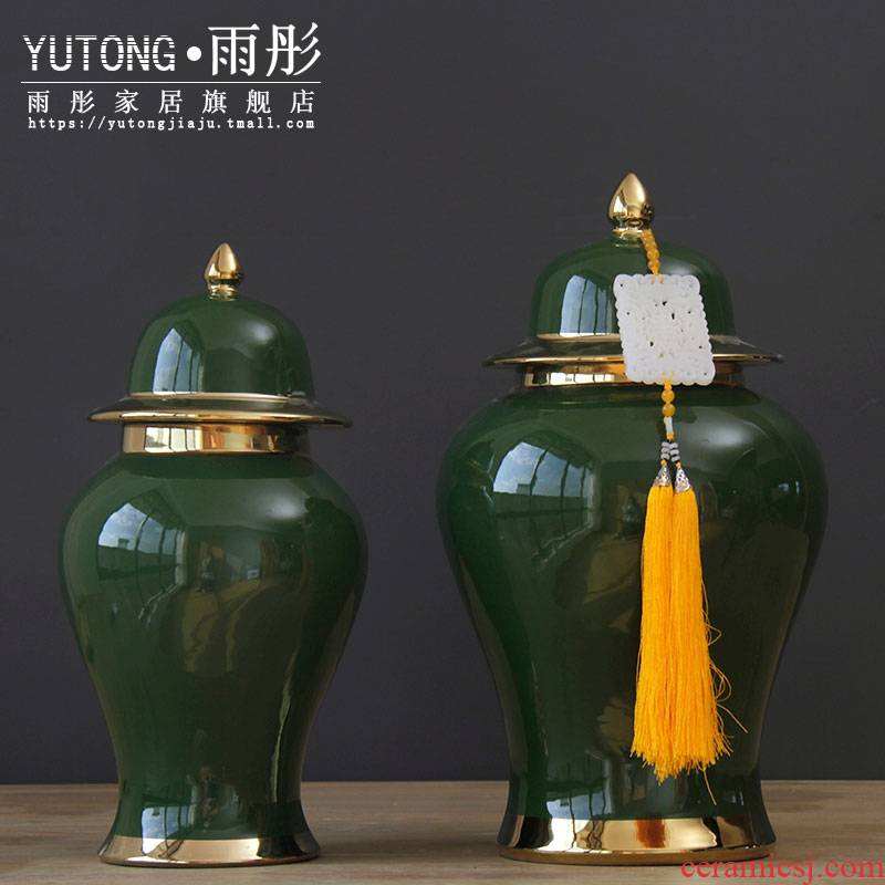 Booking with jingdezhen ceramic pot of Chinese color glaze vase mesa home furnishing articles storage tank sitting room adornment