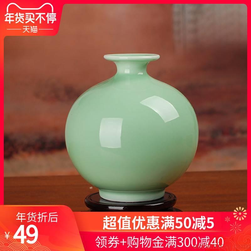 The 112 pomegranates on the jingdezhen ceramic film blue glaze antique vase porcelain handicraft decoration home decoration furnishing articles
