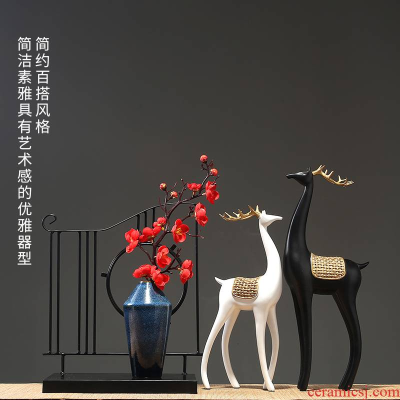 Jingdezhen I and contracted ceramic vase furnishing articles home sitting room combination dried flower crafts decorative porcelain decoration