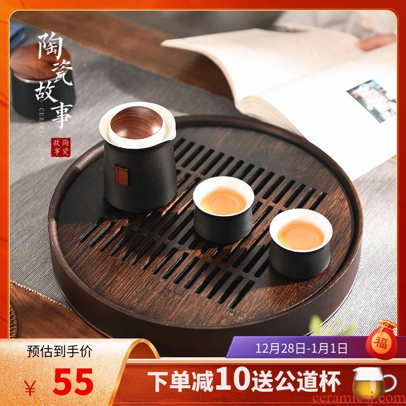Story of pottery and porcelain tea tray household small storage tray tea sets tea tea sea I and contracted dry terms tray table drop
