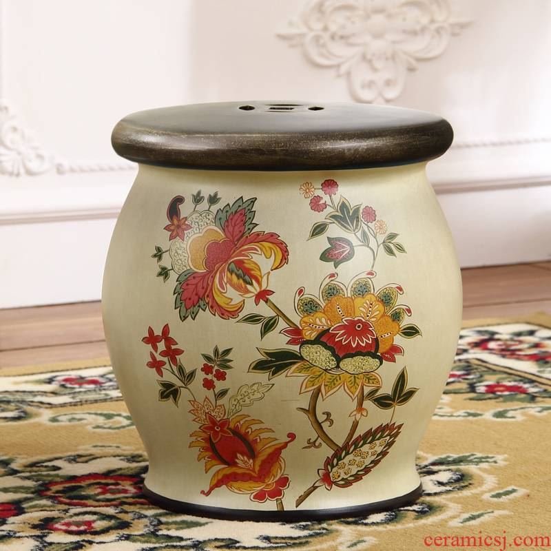 American dressing who sitting room CiGu who in restoring ancient ways shoes who embroidered pier hand - made ceramic who table who who