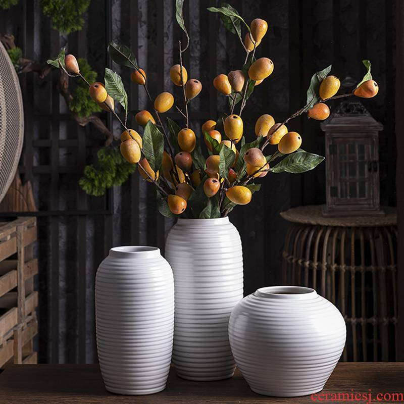 I and contracted white ceramic vase furnishing articles dried flower arranging flowers, sitting room, TV ark, Nordic home decoration
