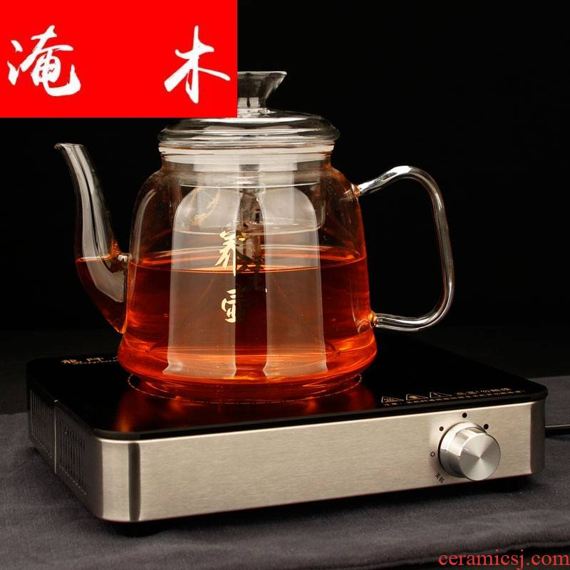 Submerged wood thickening heat - resistant glass all steam cooking pot set high borosilicate glass steam electric TaoLu glass teapot