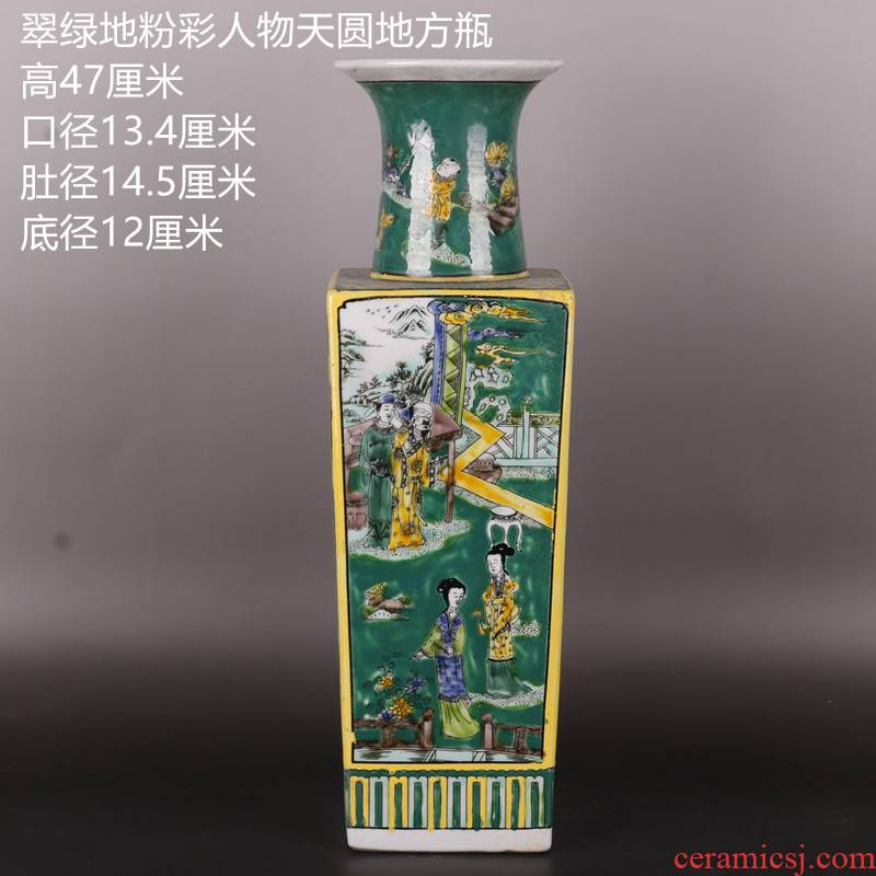 Stories of the qing emperor kangxi pastel looks antique Chinese porcelain vase household rich ancient frame penjing collection