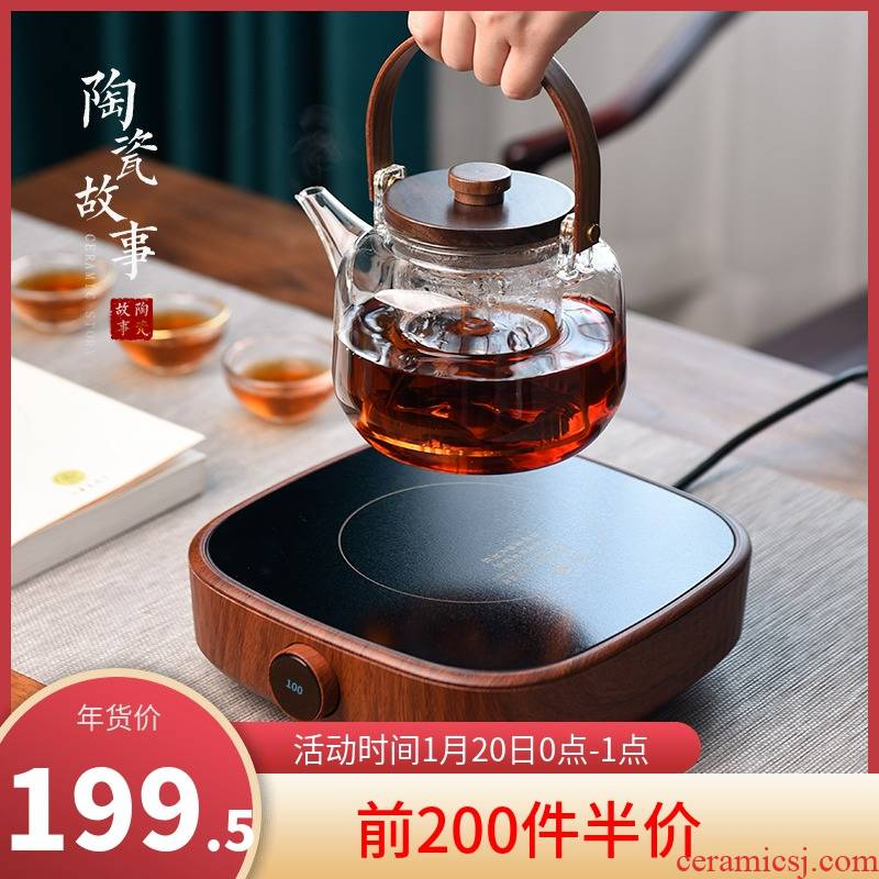 Electric ceramic story TaoLu household glass kettle automatically boiled tea of.mute cooking pot to boil tea stove suits for