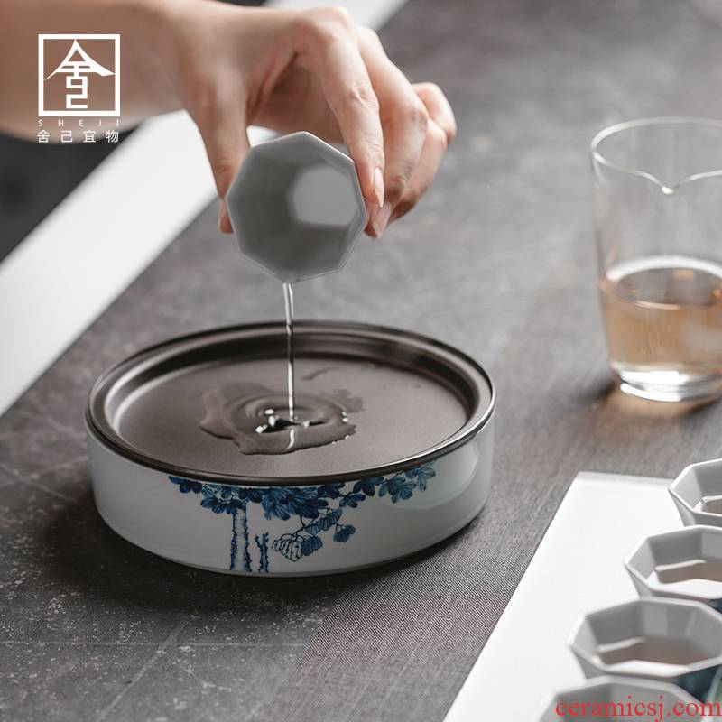 "The Self - ""appropriate content of jingdezhen hand - made wutong pot of bearing dry mercifully water dry tea Japanese zen storage restoring ancient ways"