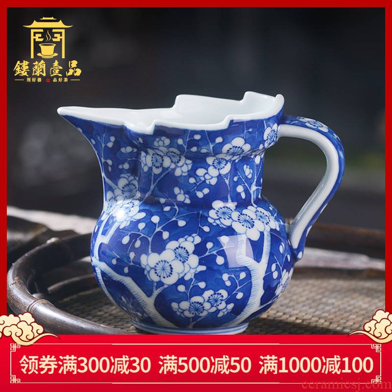 Jingdezhen ceramic hand - made ice name plum mitral justice cup single points of tea, tea accessories filter tea sea