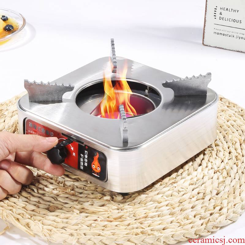 Small chaffy dish upset the drawer solid stainless steel alcohol furnace base dormitory household hotel hotel portable hot pot