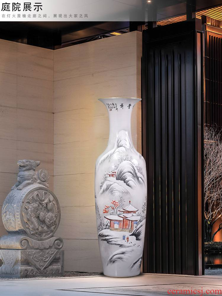Jingdezhen ceramics hand - made snow figure of large vases, sitting room of TV ark type furnishing articles study decorations