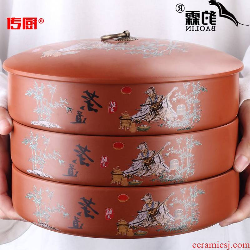 The kitchen to make a fire leopard lam, violet arenaceous caddy fixings ceramic storage tanks seal pot receives puer tea box to receive tea