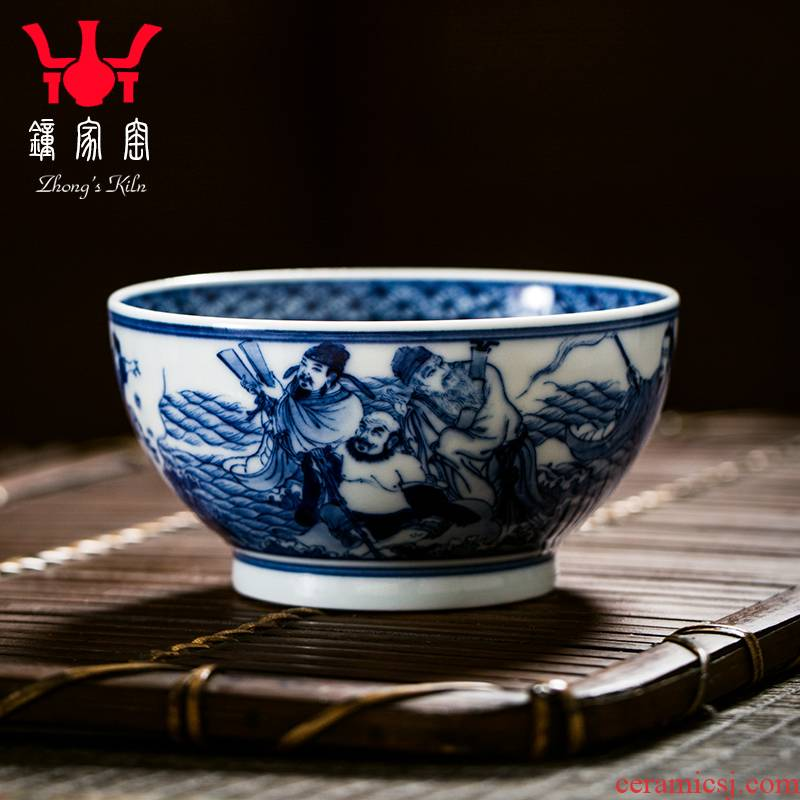 Clock home up ceramic cups jingdezhen porcelain maintain the ensemble master cup single CPU personal cup hand - drawn characters