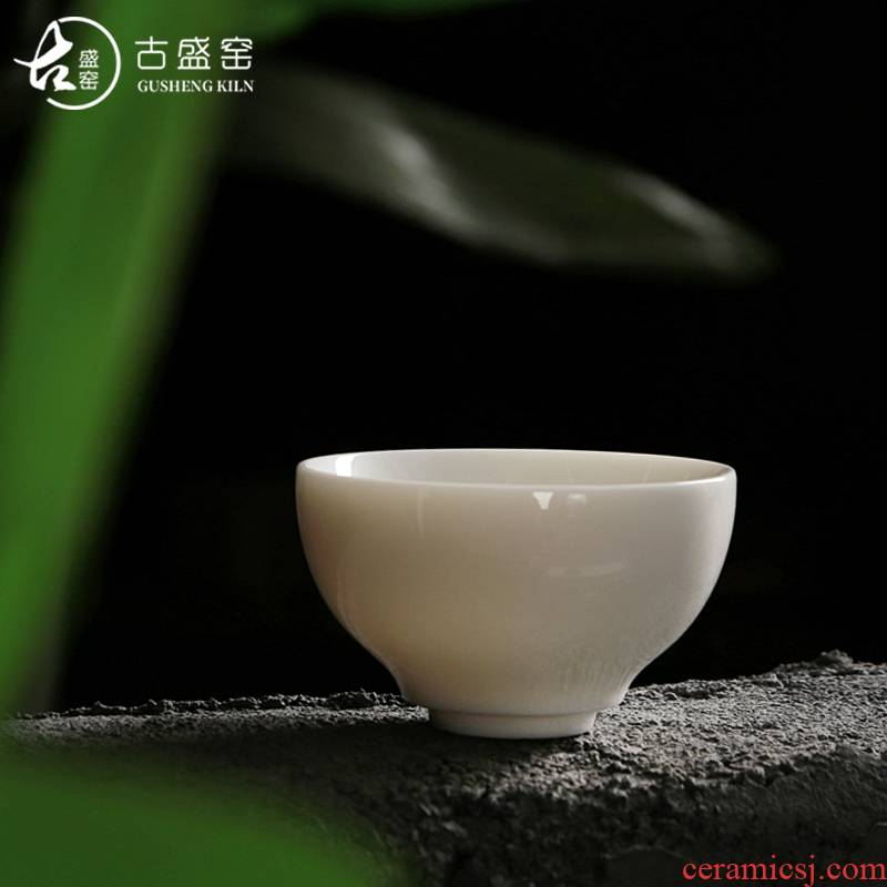 Ancient sheng up new bowls dehua white porcelain pure manual kaolin cup personal master cup kung fu cup sample tea cup