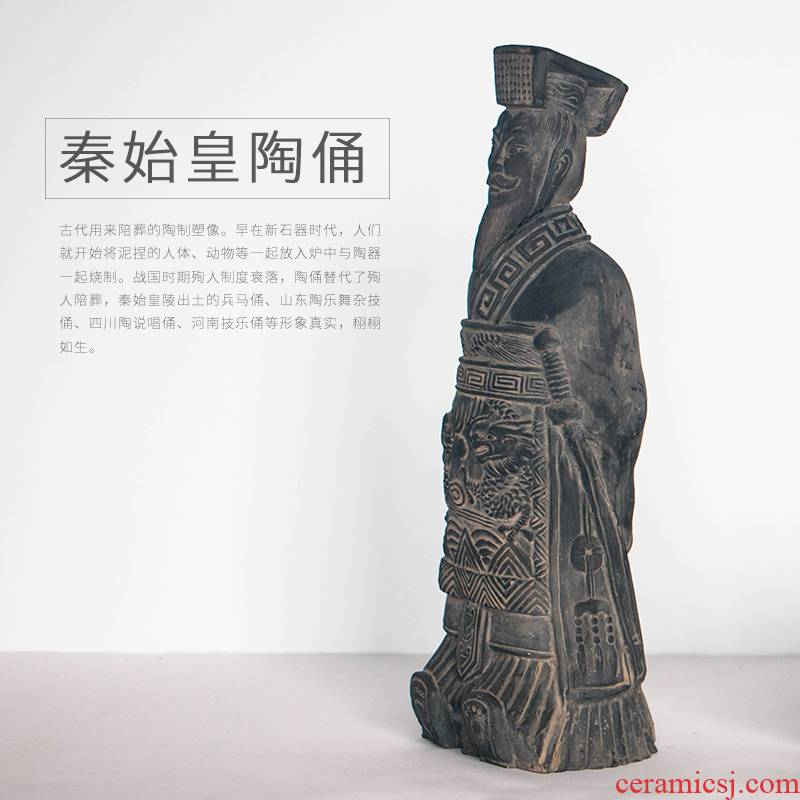 Qin shihuang terracotta figures furnishing articles furnishing articles antique collection of adornment of Chinese style bronze battle drum its art crafts
