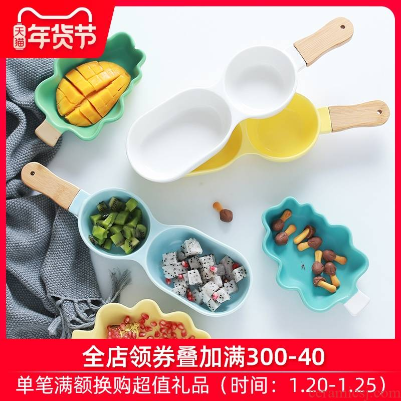 Creative dessert cup cartoon children salad bowl bowl mold division plate baby ceramic baking bowl of Chinese breakfast porridge