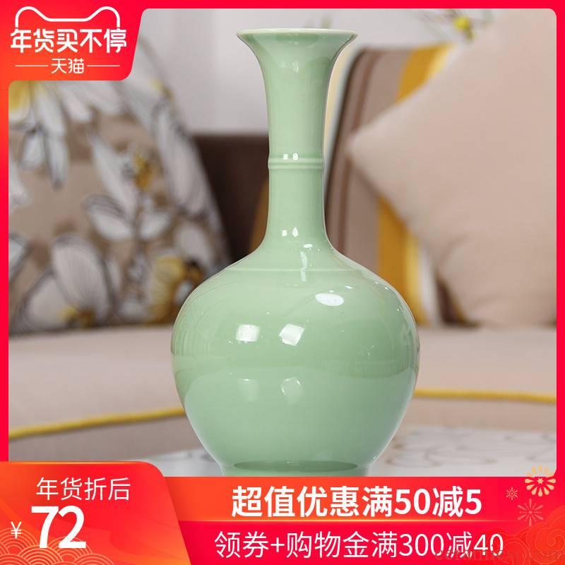 303 jingdezhen ceramic vases, modern art creative arts crafts furnishing articles home decoration color glaze