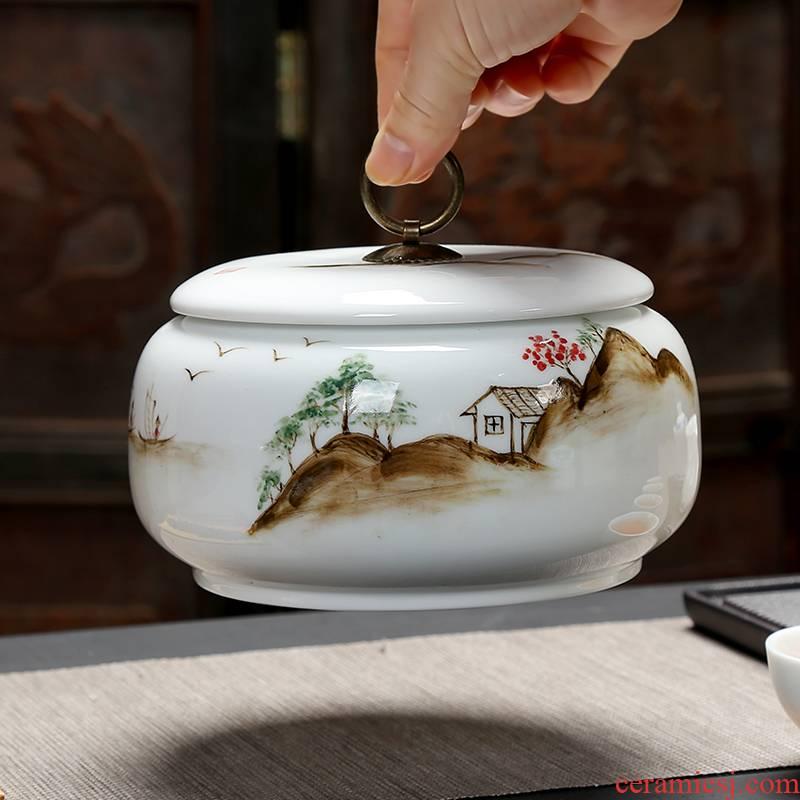 Ceramic tea pot, hand - made Ceramic jar airtight pot storage POTS of tea big pot and tea urn medicinal materials