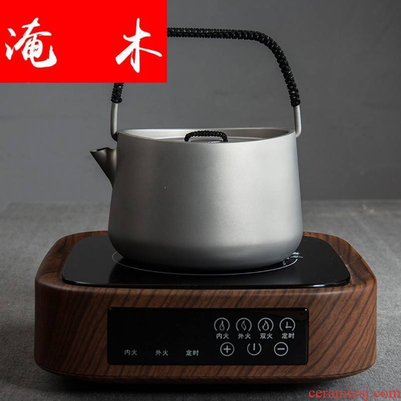 Flooded wood fire maple prajnaparamita teapot titanium pot ceramic iron pot cooking what tea stove'm is suing travel tea kettle