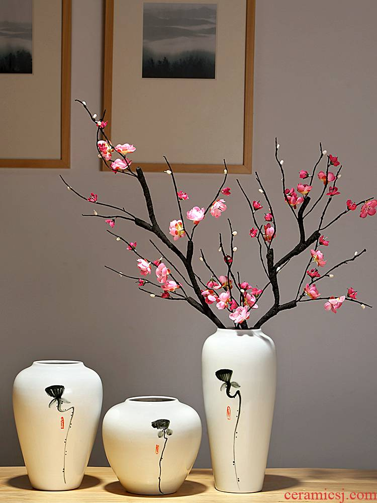 Jingdezhen contracted the new Chinese modern dry flower flowers sitting room porch place of the study decorate ceramic porcelain vases