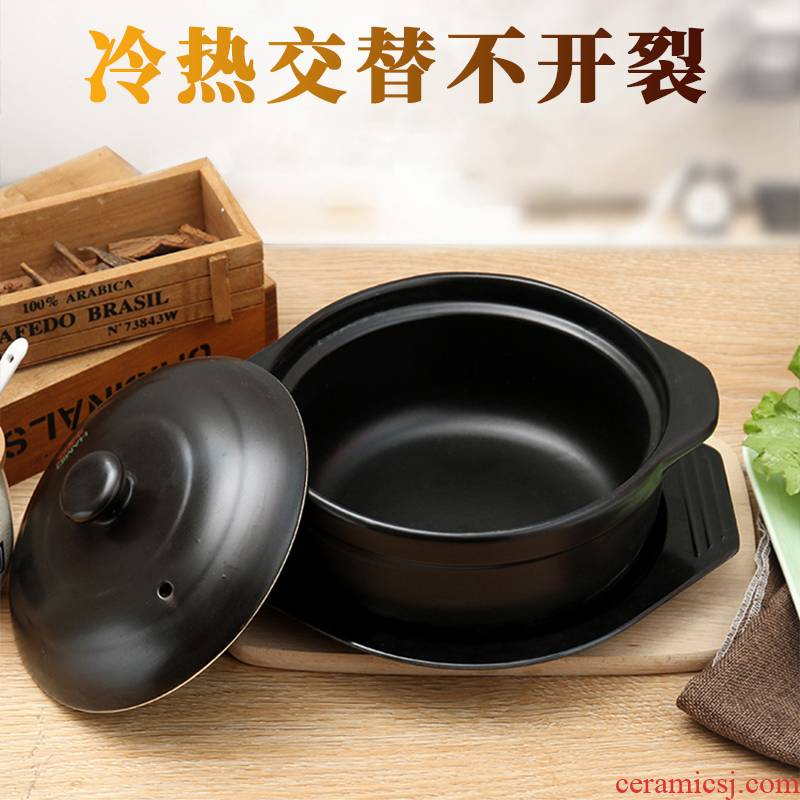 Earthenware pot dry cooker flame to hold to high temperature casserole stew rice vermicelli potato fans, special ceramic saucepan small gas