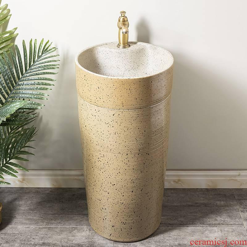 Ceramic column basin restoring ancient ways of household toilet lavatory basin sink balcony is suing floor one column 5