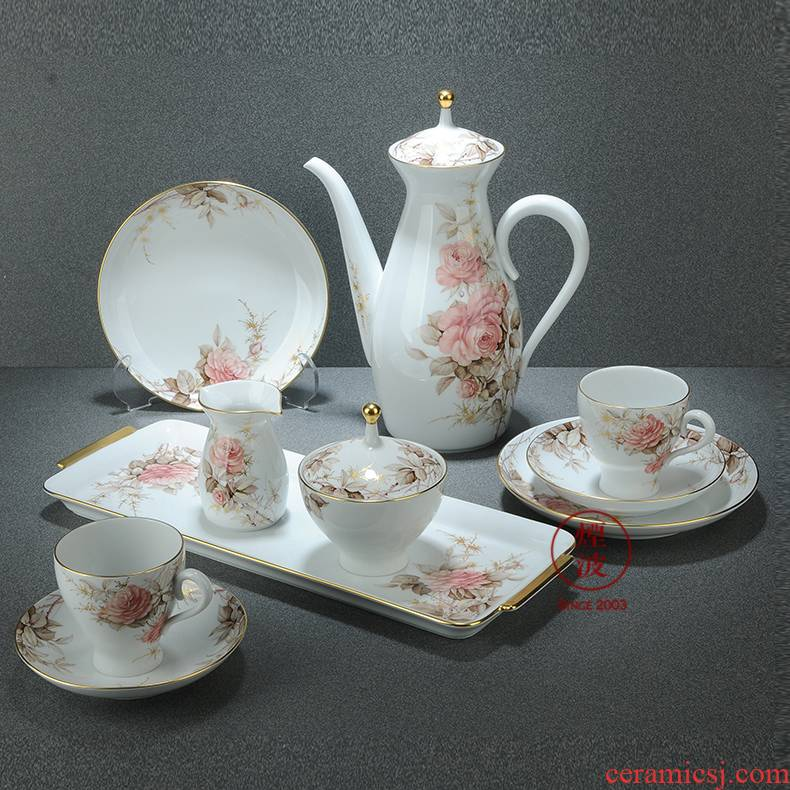 German mason MEISSEN porcelain limited works hand - made purple and rose coffee brown suit